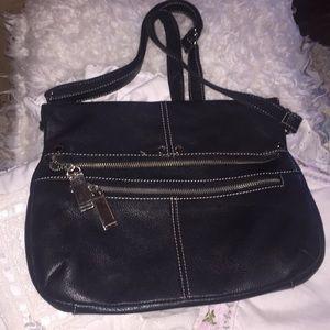 Tignanello black leather crossbody